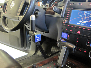 The Click & Go solution installed in a Volkswagen.